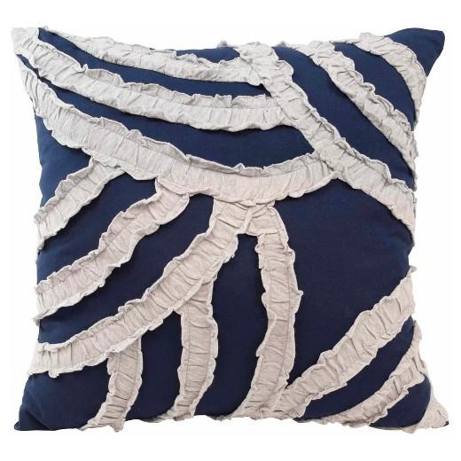 Throw Pillows Navy And White : Navy & White Throw Pillow (16x16