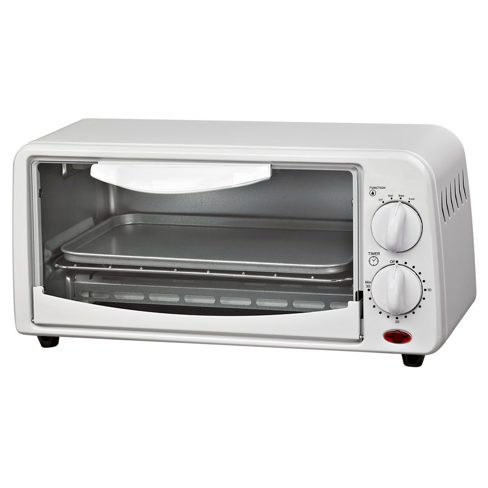 COURANT 4-Slice Toaster Oven - White