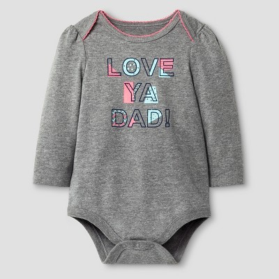 Baby Girls' Love Ya Dad Bodysuit Cat & Jack™ - Grey Newborn