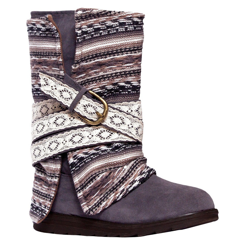 Womens Muk Luks Nikki Fashion Boots - Gray 11
