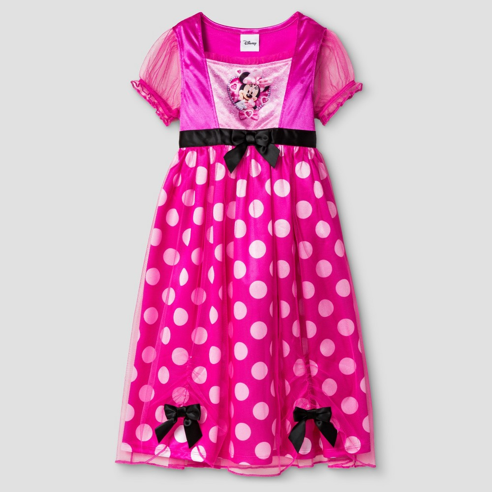 Toddler Girls Disney Minnie Mouse Short Sleeve Nightgown Pink 2T