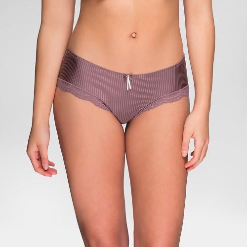 Marie Meili Curvy Women's Jennifer Hipster - Chestnut Stripe XL