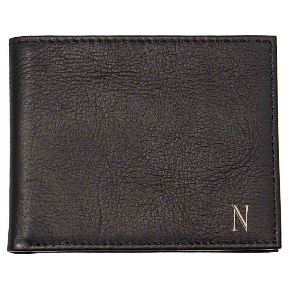 Monogram Bi-fold with Multi-Function Tool Groomsmen Gift Wallet - K, Mens, Black
