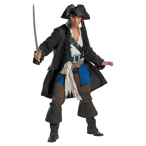Pirates of the Caribbean - Captain Jack Sparrow Men's Prestige Adult Costume X-Large - image 1 of 1