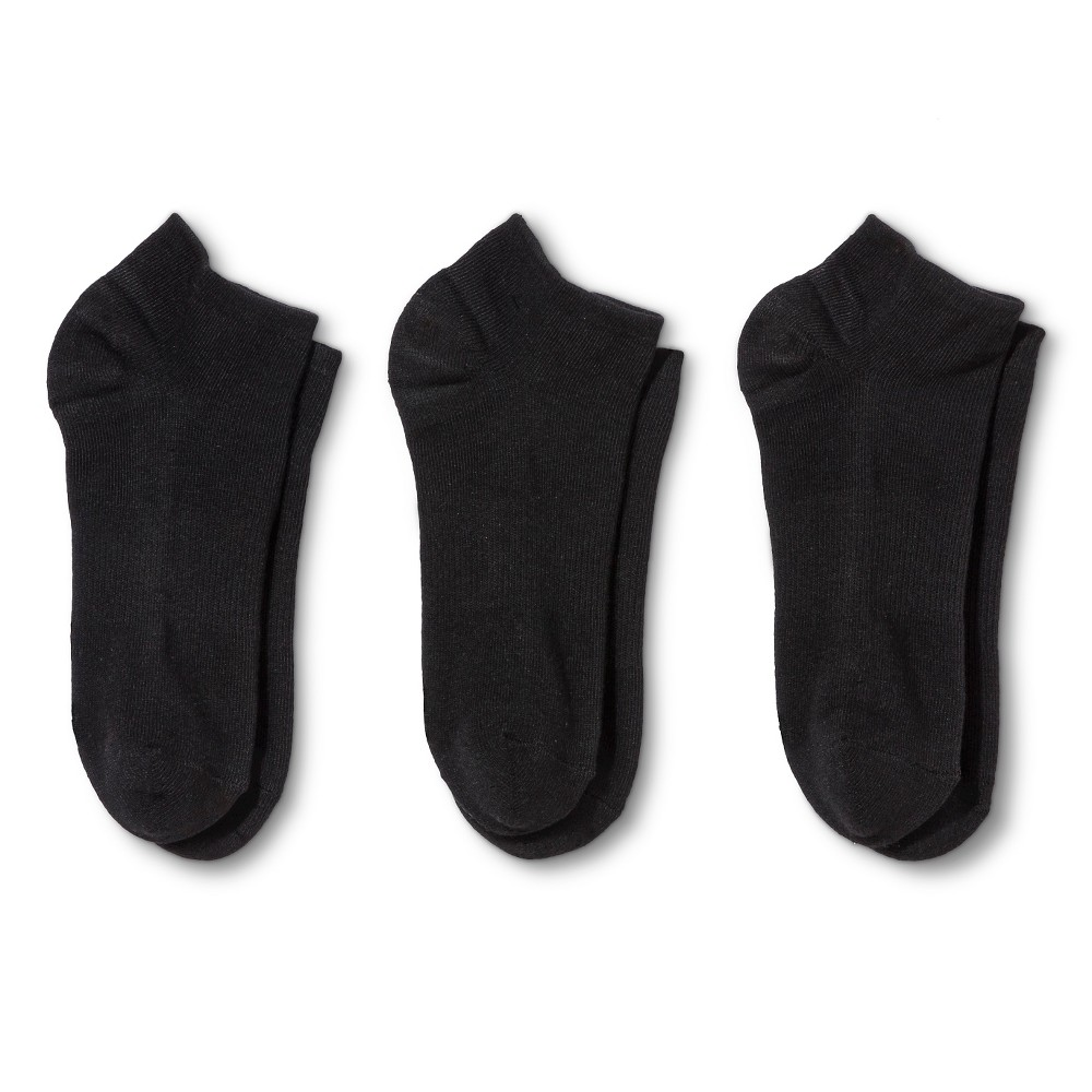 Hanes Premium Womens Cushioned Low Cut Socks 3-Pack - Black 5-9