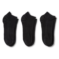 Hanes® Premium Women's Cushioned Low Cut Socks 3-Pack - Black 5-9