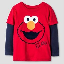 Toddler Boys' Sesame Street  Elmo Long Sleeve T-Shirt - Red