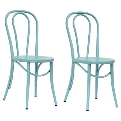 Emery Metal Bistro Chair - Ancient Aqua (Set of 2)- Threshold™