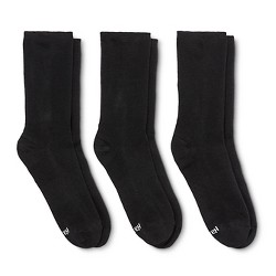 Hanes® Premium Women's Cushioned Crew Socks 3-Pack - Black 5-9