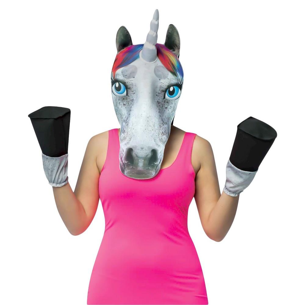 Adult Unicorn Animal Kit Costume One Size, Adult Unisex, Multi-Colored