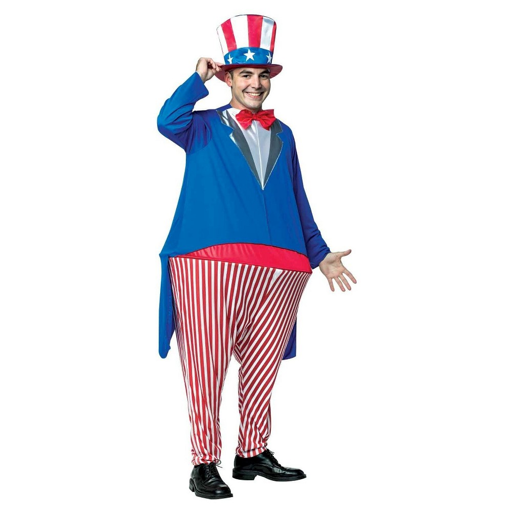 Uncle Sam Adult Hoopster Mens Costume One Size Fits Most, Multi-Colored