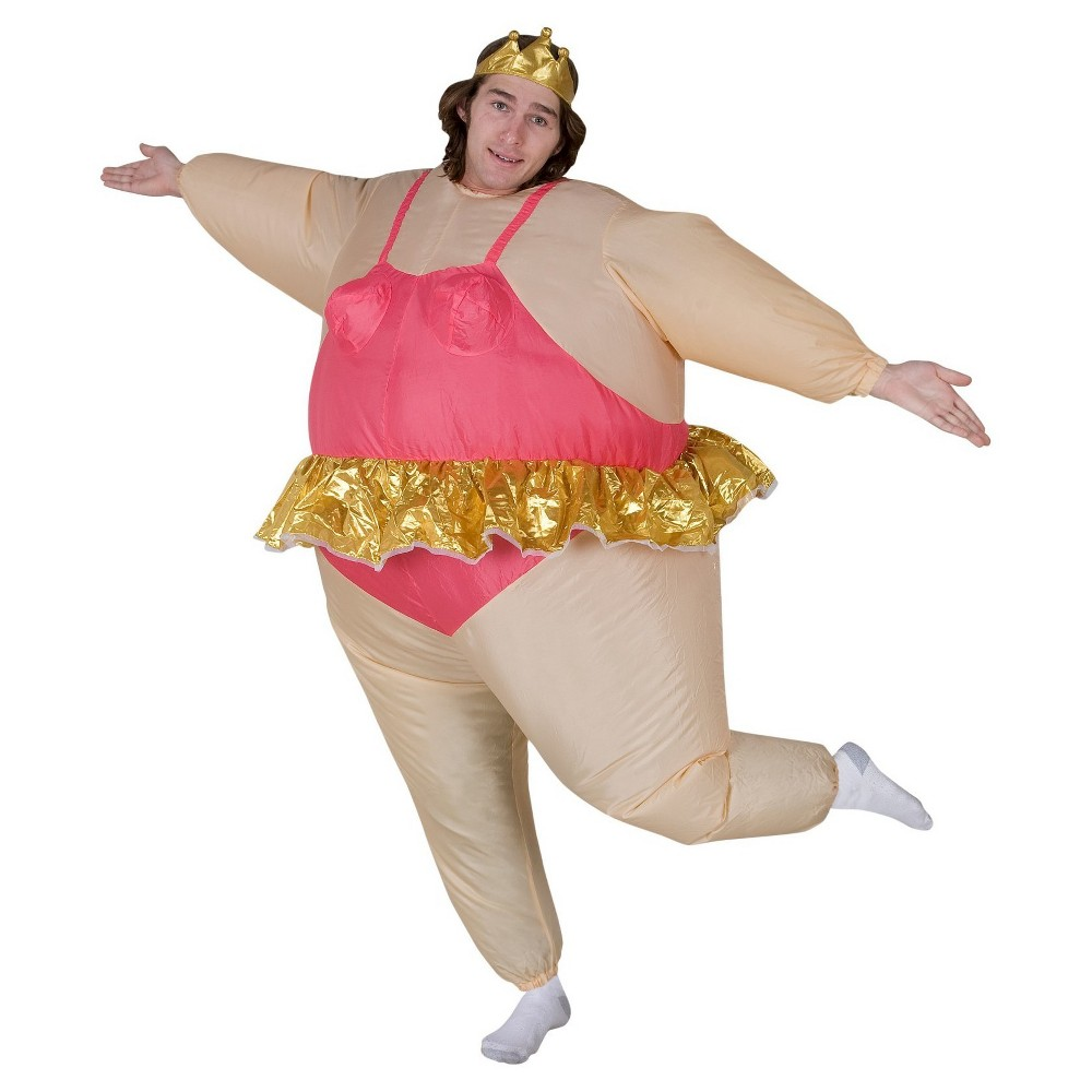 Mens Inflatable Ballerina Adult Costume One Size Fits Most, Pink