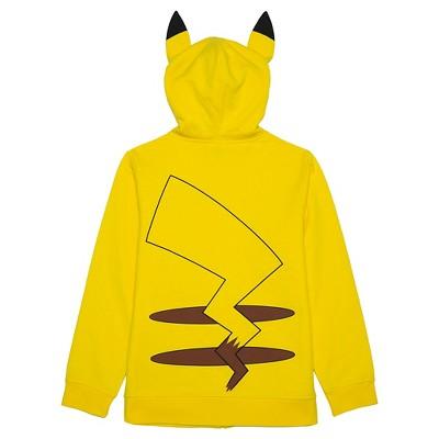 Boys' Pikachu Costume Hood Sweatshirt - Yellow XL, Boy's