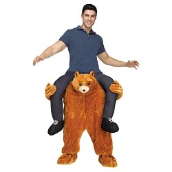 Teddy Bear Riding on Shoulder Adult Costume - One Size Fits Most