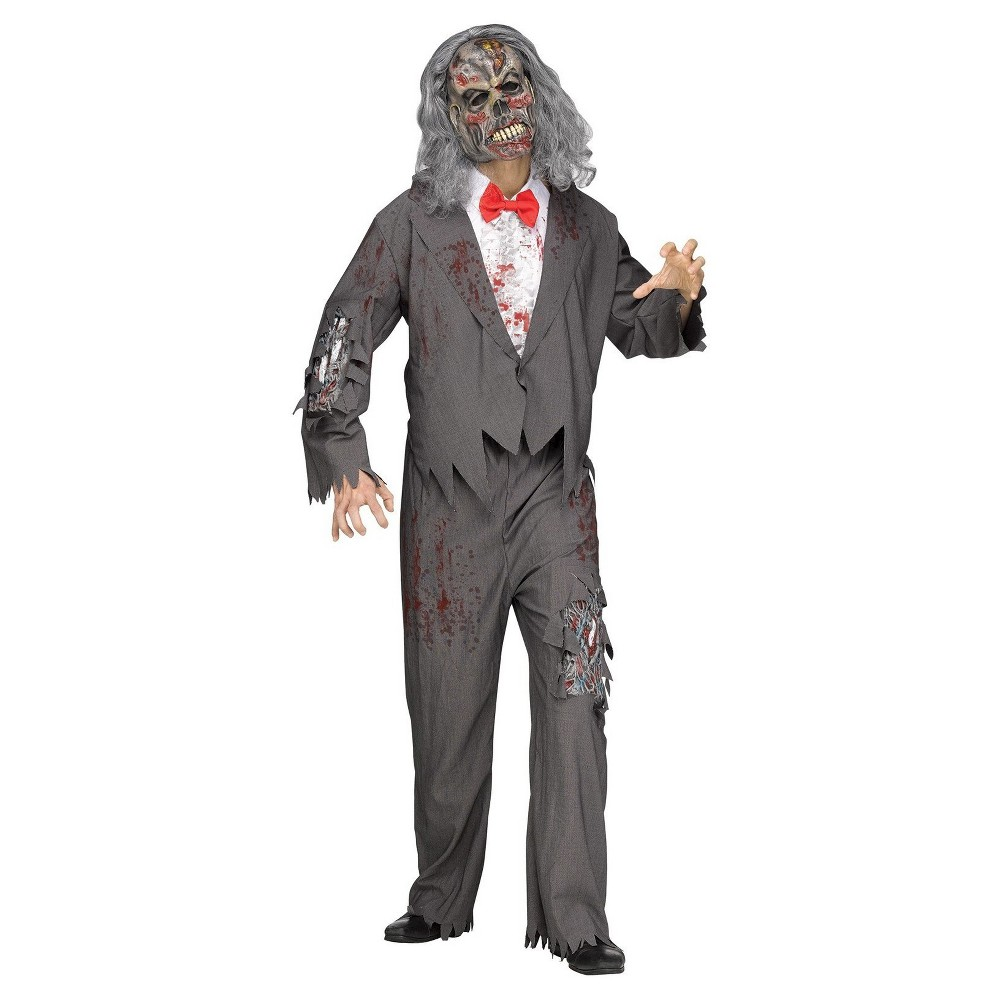 Mens Zombie Groom Adult Costume One Size Fits Most, Multi-Colored