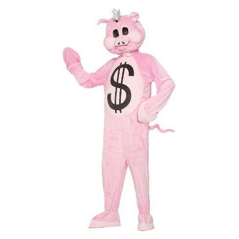 Men's Plush Piggy Bank Adult Mascot Costume X-Large - image 1 of 1