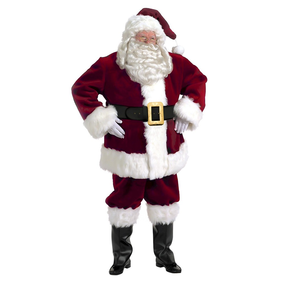 Mens Majestic Santa Suit Costume X-Large, Size: XL, Red