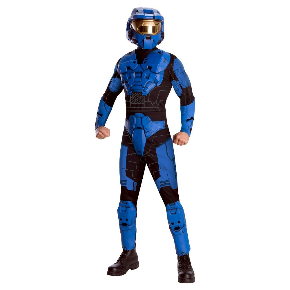 Mens Halo Blue Spartan Deluxe Adult Costume X-Large, Size: XL