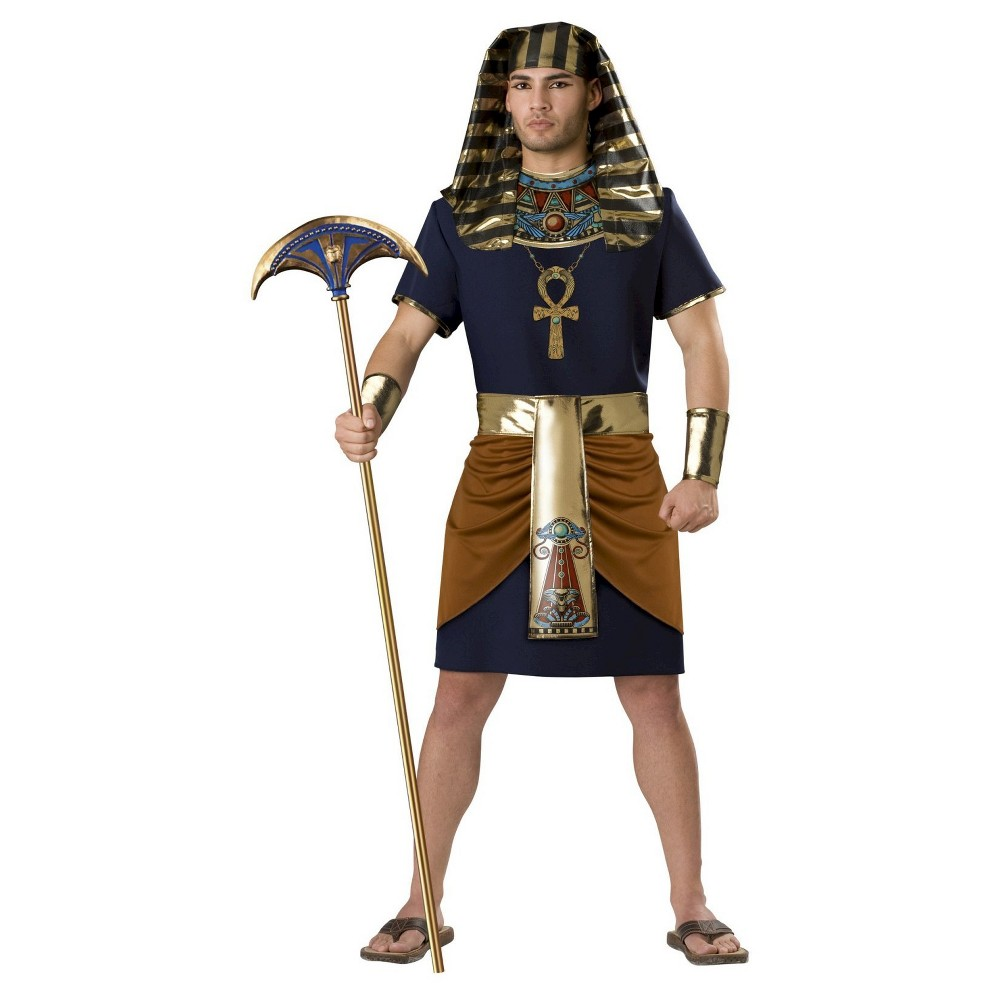 Mens Egyptian Man Costume Large, Black