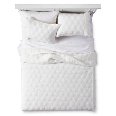 Ivory Boho Darling Solid Quilt Set (King)3-pc - Boho Boutique