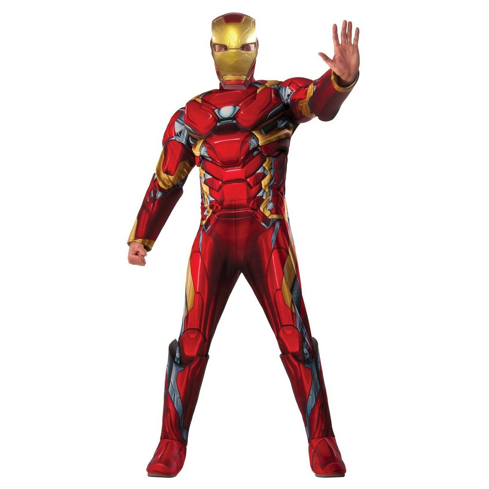 Marvels Captain America: Civil War Mens Iron Man Deluxe Costume, Red
