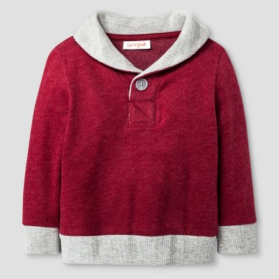 Baby Boys' Pullover Sweater Cat & Jack™ - Cherry Red 18 M