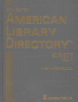 American Library Directory 2016-2017 (Hardcover)