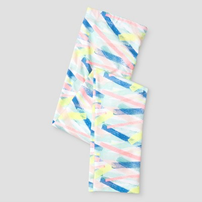 Girls' Printed Modern Lines Favorite Legging Pant Cat & Jack - Fresh White L, Girl's