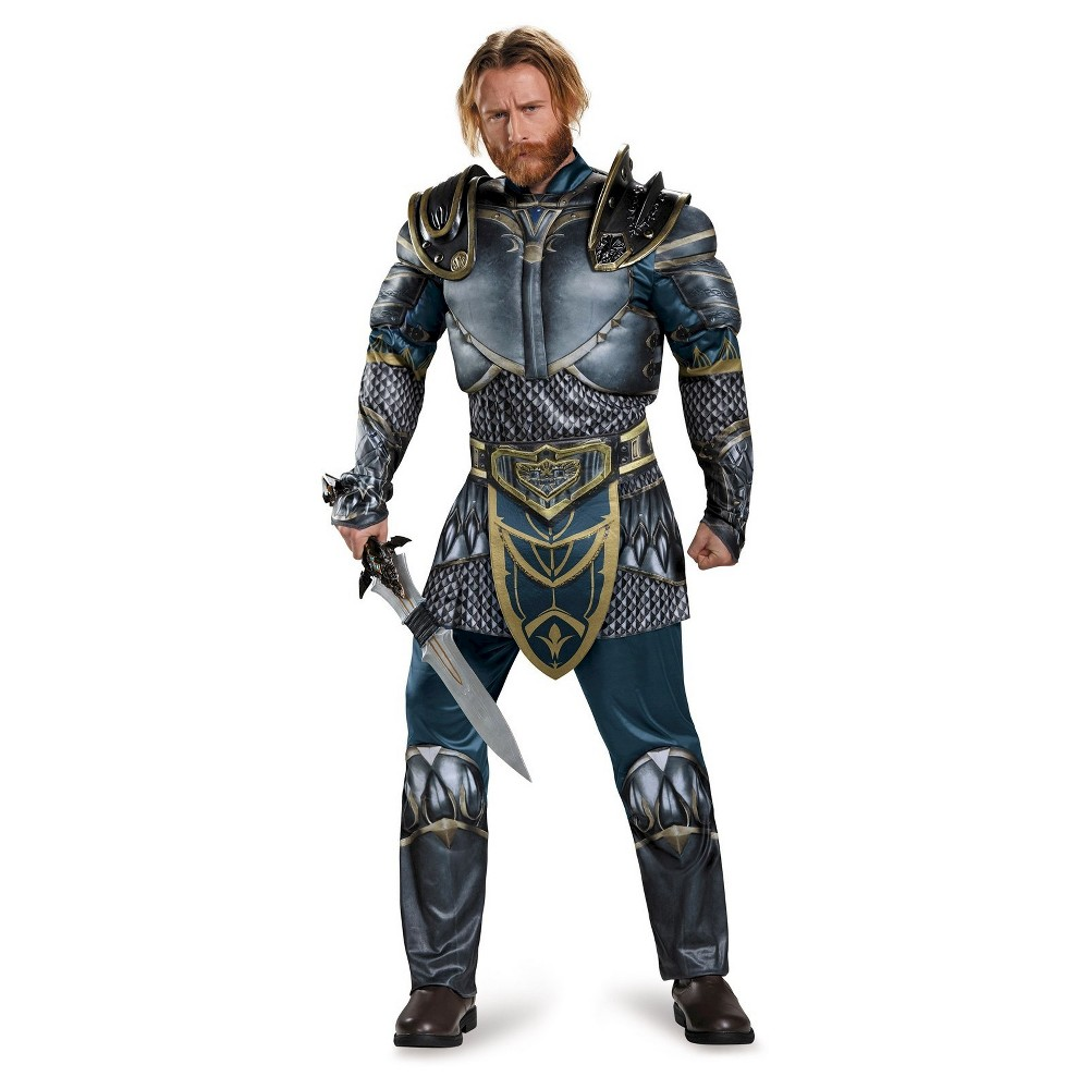 Warcraft Lothar Mens Classic Muscle Adult Costume X-Large, Size: XL, Multi-Colored