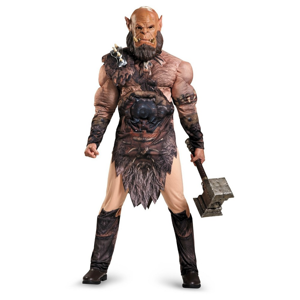 Warcraft Orgrim Deluxe Mens Muscle Adult Costume X-Large, Size: XL, Multi-Colored