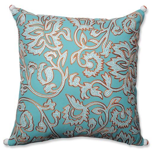 Blue Throw Pillow Belize (18