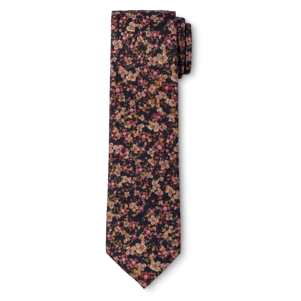 Men's Floral Tie Black – City of London