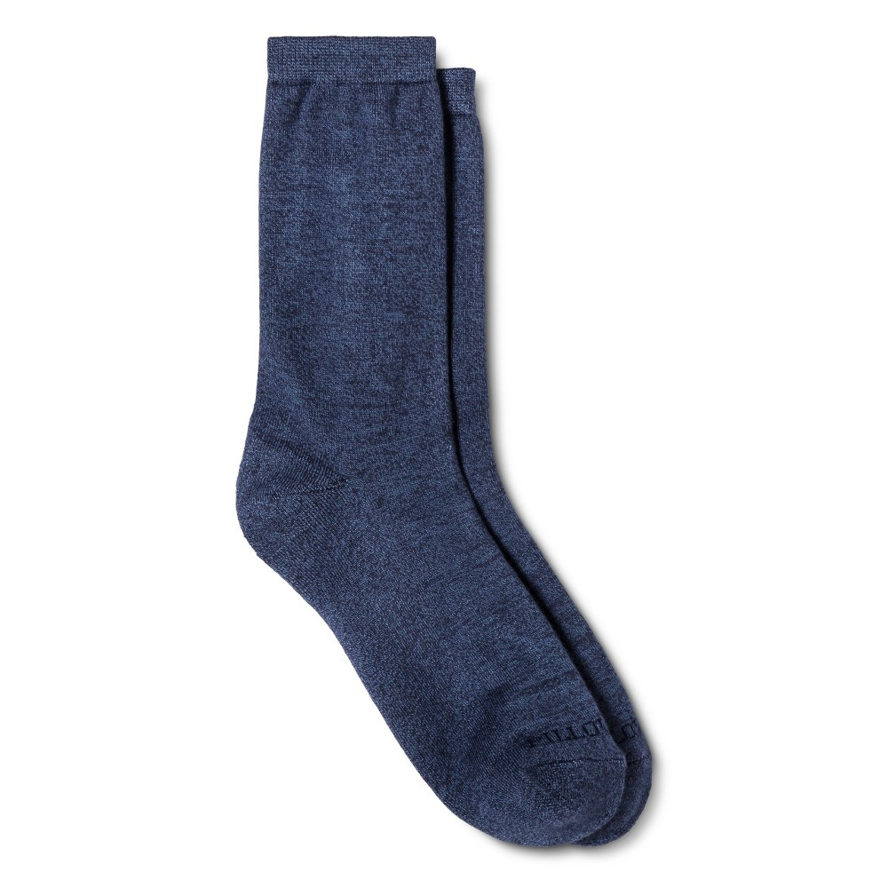 Legale Women's Bamboo Pillow Sole Crew Sock – Denim Blue One Size Fits Most