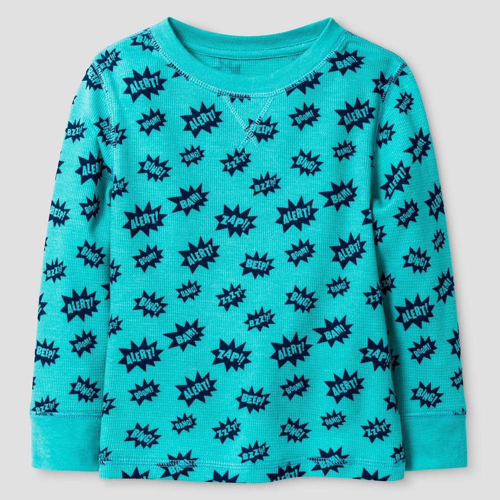 Toddler Boys Long Sleeve T-Shirt Cat & Jack - Star Aquarius 6, Blue
