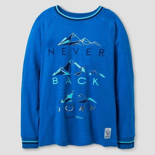 Boys' Long Sleeve Graphic T-Shirt Cat & Jack - Blue Xxl, Boy's