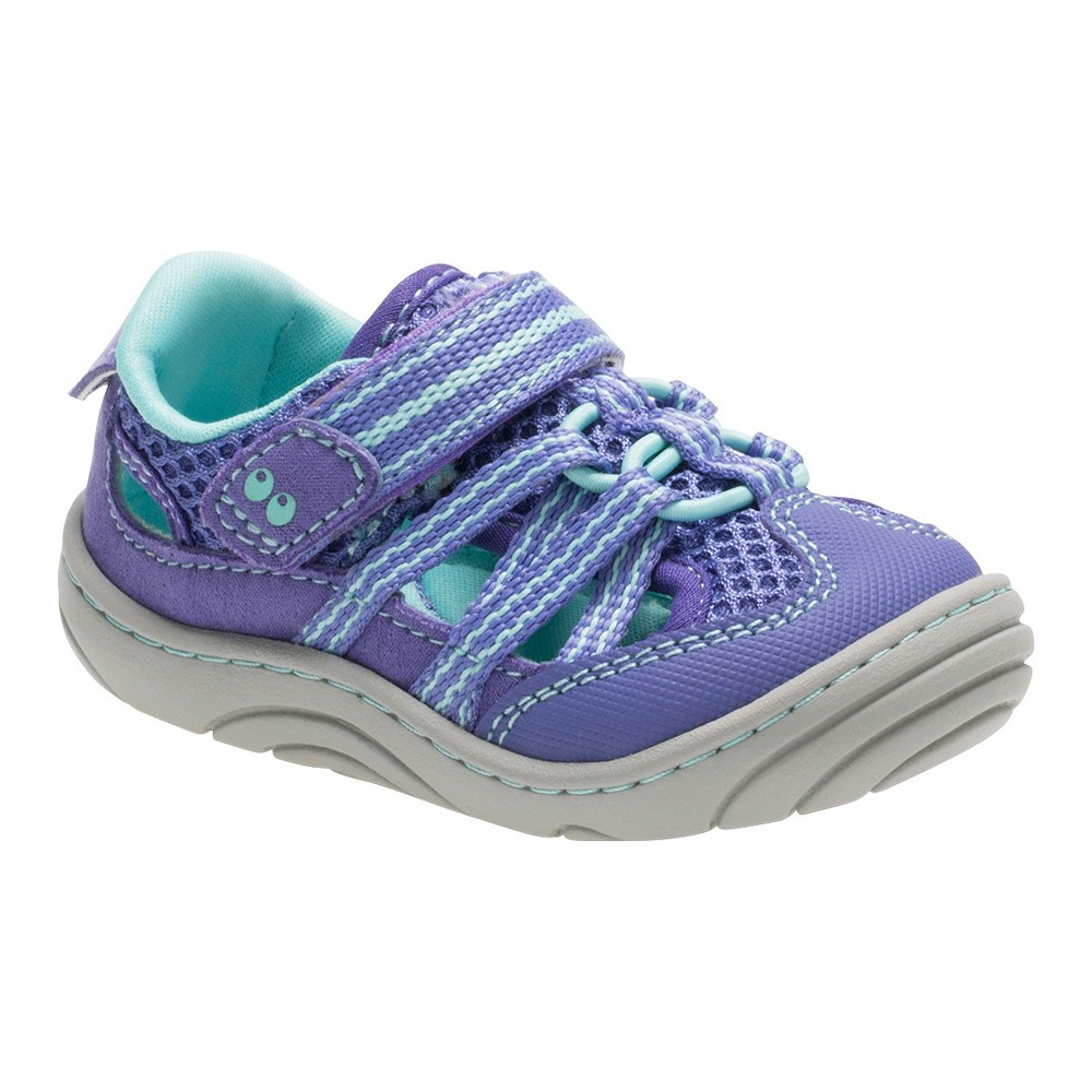 Baby Girls Surprize by Stride Rite Chloe Hiking Sandals - Purple 2, Green Purple