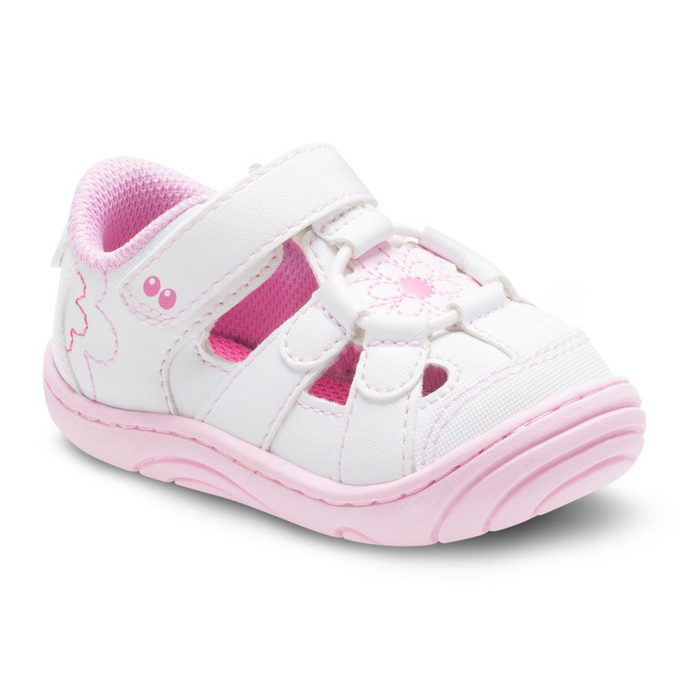 Baby Girls Surprize by Stride Rite Alexia Fisherman Sandals - White 2, Pink White