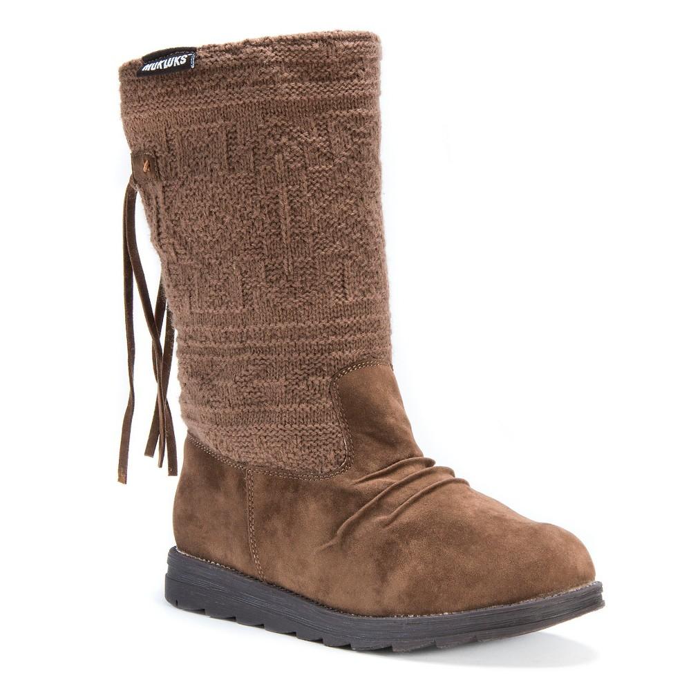 Womens Muk Luks Barbara Boots - Brown 8