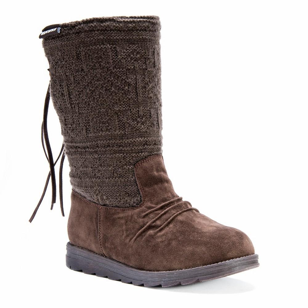 Womens Muk Luks Barbara Boots - Chocolate (Brown) 7