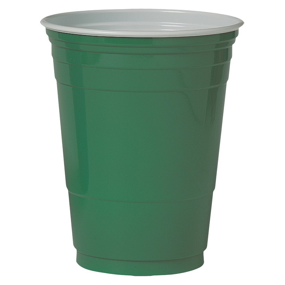 Holiday Green Solid Plastic Cups- 60CT, 18oz - up & up, Red