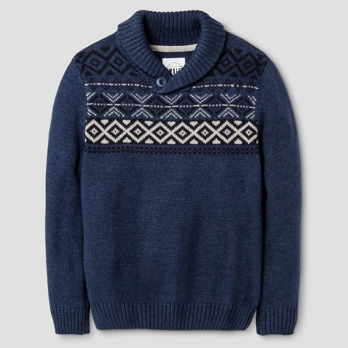 Boys' Citizen Wolf Pullover Sweater - Blue 8-10, Boy's