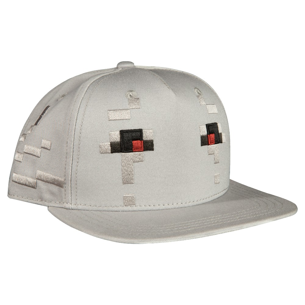 Kids' Minecraft Ghast Premium Snap Back Hat – White, Kids Unisex, Light Gray Nep