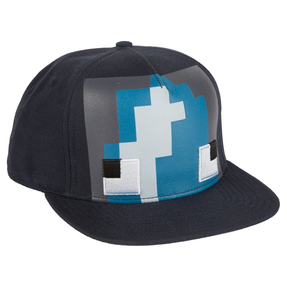 Kids' Minecraft Squid Premium Snap Back Hat – Navy, Kids Unisex, Classic Navy