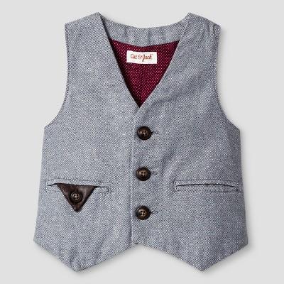 Baby Boys' Dressy Vest Cat & Jack™ - Grey 18M