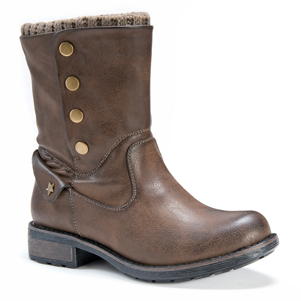 Womens Muk Luks Crumpet Boots - Brown 10