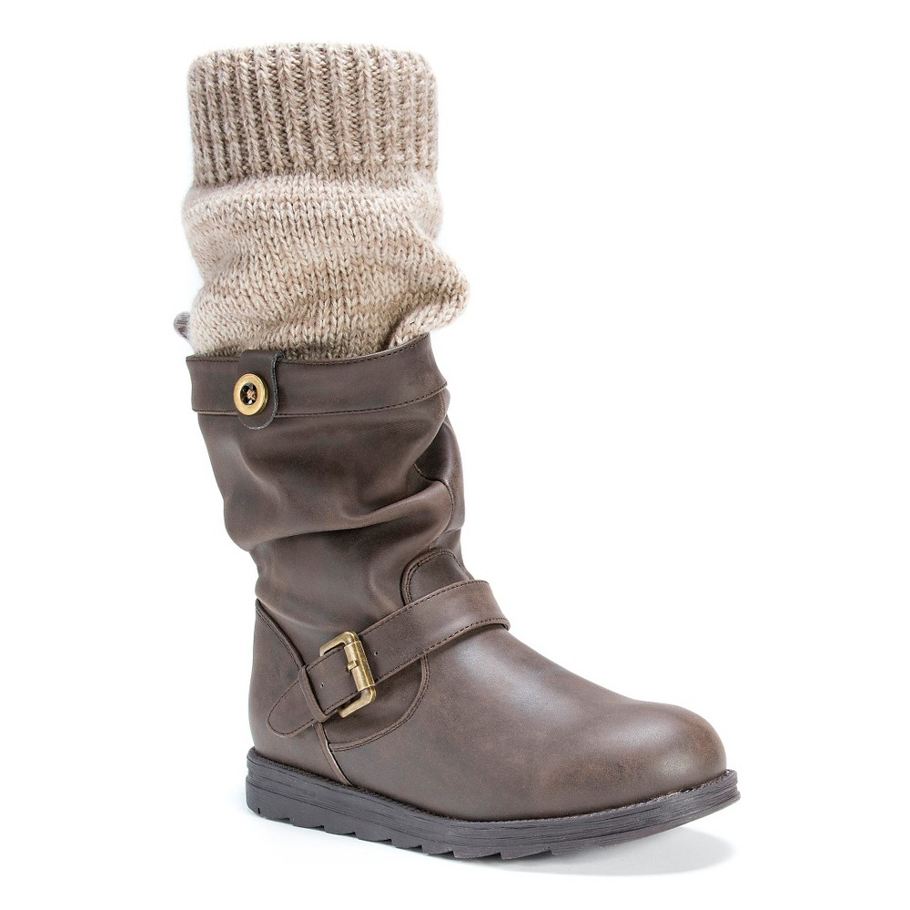 Womens Muk Luks Dalis Slouch Boots - Brown 6