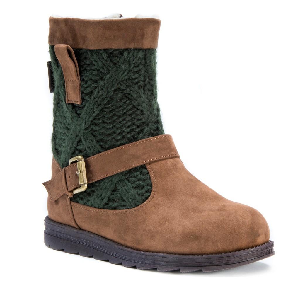 Womens Muk Luks Gina Shearling Boots - Green 7