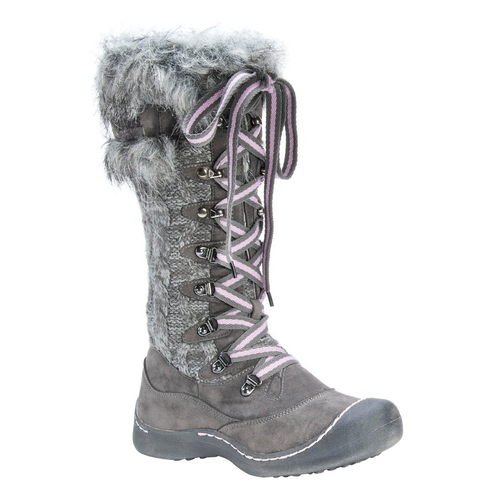 Womens Muk Luks Gwen Winter Boots - Gray 11