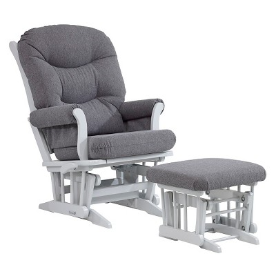 Dutailier Glider and Ottoman Set - Gray