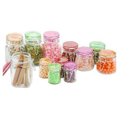 Kinetic GoGreen 12-Piece Glass Mini Jar Set - 4.52 oz/ 4.90 oz/ 8.79 oz Each